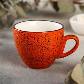 Кофейная чашка Wilmax Splash, 190 мл, цвет оранжевый