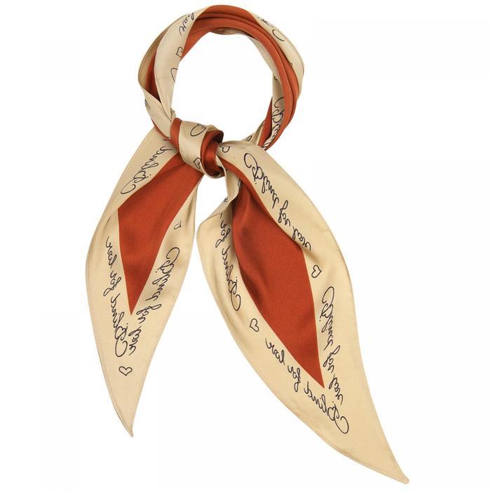 Шарф женский текстильный, цвет коричневый, размер 33115