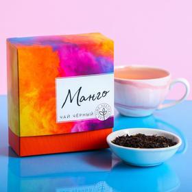 Чай чёрный «Краски», вкус: манго, 100 г.