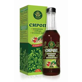 Сироп «Магия трав», имбирь, зелёный чай, шиповник, 330 г