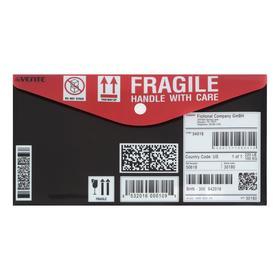 """Папка-конверт на кнопке travel-size (260 x 140 мм) 150 мкм, """"deVENTE. Delivery, непрозрачная с рисунком, индивидуальная маркировка"""