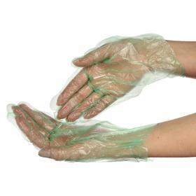Перчатки одноразовые, размер L, 100 шт в упаковке зеленый цвет