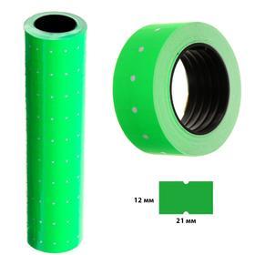 Этикет-лента 21*12мм, прямоугольная, зеленая, 500 этикеток Ош