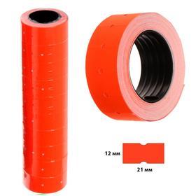 Этикет-лента 21*12мм, прямоугольная, красная, 500 этикеток Ош