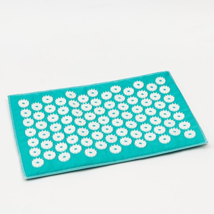 Аппликатор игольчатый «Коврик» на мягкой подложке, 85 колючек, изумрудный, 25х40 см