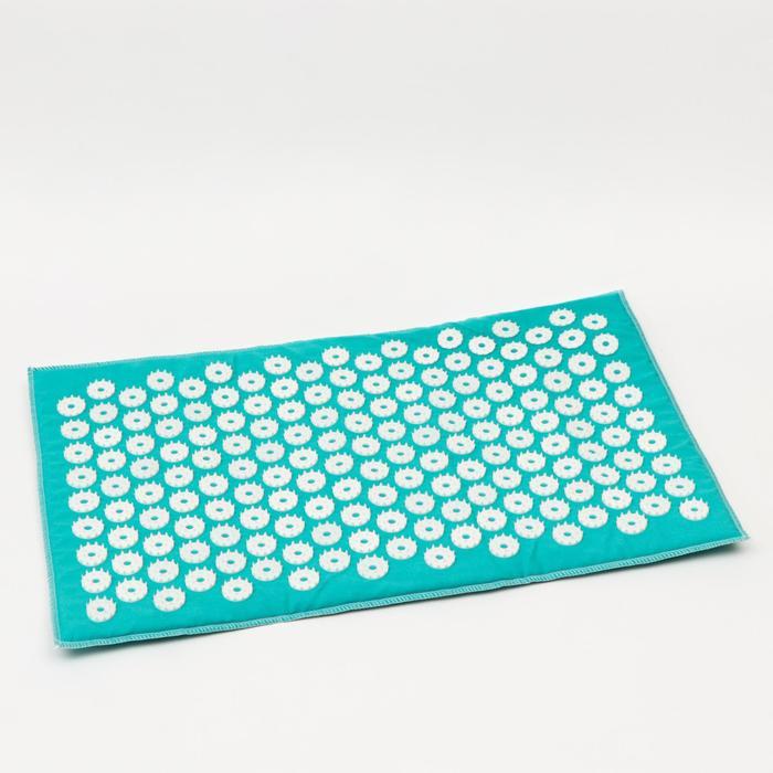 Аппликатор игольчатый «Коврик» на мягкой подложке, 171 колючка, изумрудный, 32х51 см