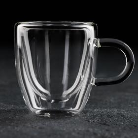 Кружка с двойными стенками Magistro «Дуо», 80 мл, 9×6×6,5 см