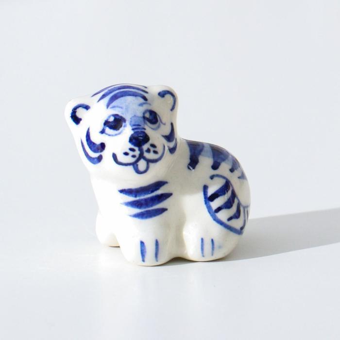 Сувенир Тигр Марсик, гжель