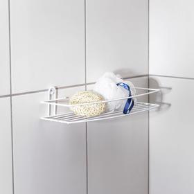 Полка для ванной прямая, 35×13×7,5 см, цвет белый Ош