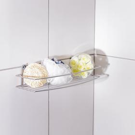 Полка для ванной прямая, 35×13×7,5 см, цвет хром Ош