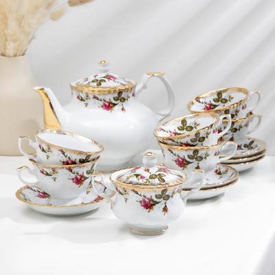 Сервиз чайный Czech Gold Hands «Шиповник», 14 предметов - Фото 1