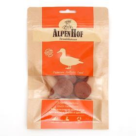Медальоны из утки AlpenHof для собак и щенков мелких пород, 50 г