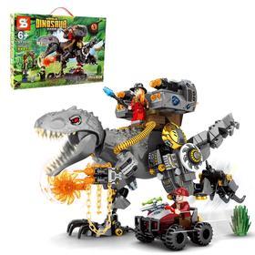 Конструктор Мир динозавров «Сражение с тиранозавром», 560 деталей