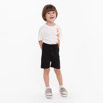 Шорты для мальчика, цвет чёрный, рост 98 см - Фото 1