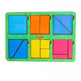 Головоломка «Сложи квадрат» Б.П. Никитин, 6 квадратов 1-й уровень