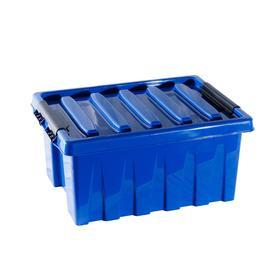 Контейнер с крышкой 415х300х190 синий 16 л