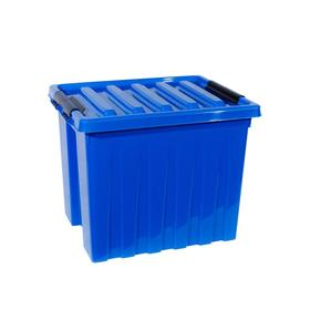 Контейнер на роликах с крышкой 500х390х390 синий 50 л