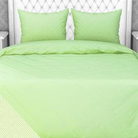 Постельное белье 1,5сп Samy «Зигзаг зеленый», 147х210, 150х210, 70х70 см- 2шт