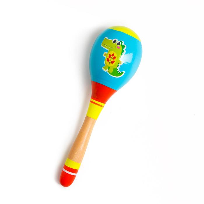 Музыкальная игрушка маракас Крокодил, 20 см