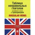 Таблица неправильных глаголов английского языка с транскрипцией сост. А.Д. Ванькова