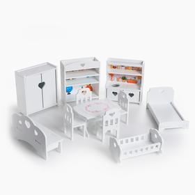 Мебель для кукол (маленькая), 11 предметов