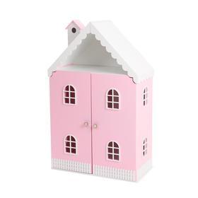 Кукольный домик «Вероника» с дверками (розово-белый)