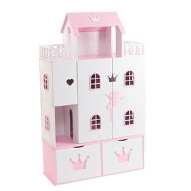Кукольный домик «Балерина», (бело-розовый)