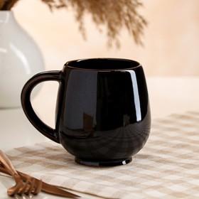 "Кружка ""Чайная"", черная, 0.4 л"