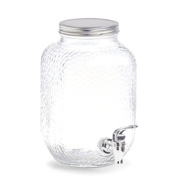 Банка для напитков с краником 3.7 л, 20.4×15.2×25.4 см стекло/металл/пластик