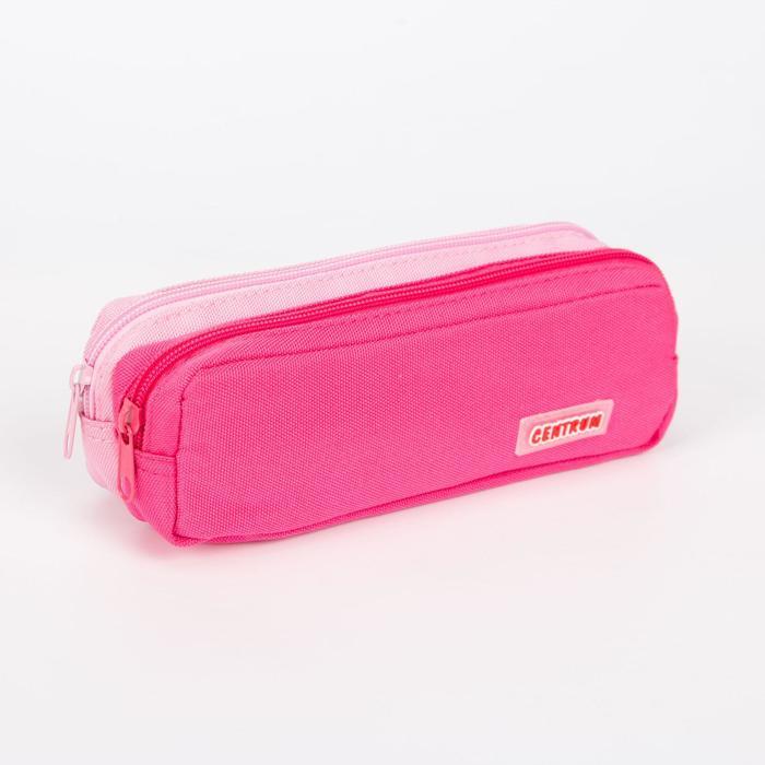 Косметичка простая, отдел на молнии, цвет розовыймалиновый