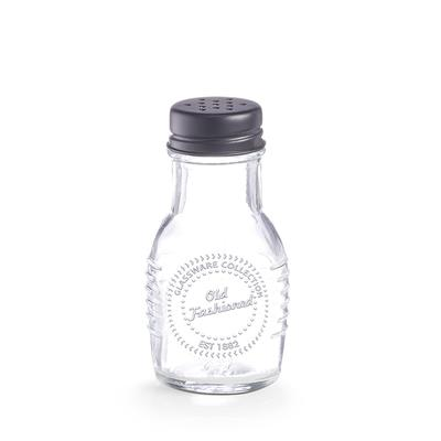 Ёмкость для соли/перца, 5.2×10 см, стекло/металл - Фото 1