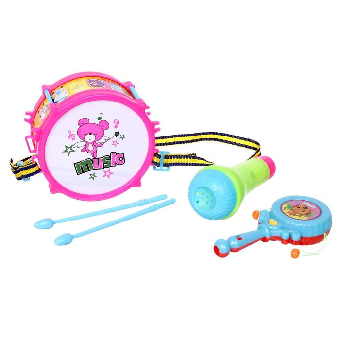Набор музыкальных инструментов Пати бэнд, 5 предметов, цвета МИКС