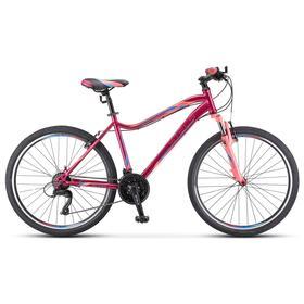 "Велосипед 26"" Stels Miss-5000 V, V050, цвет вишнёвый/розовый, размер 16"""