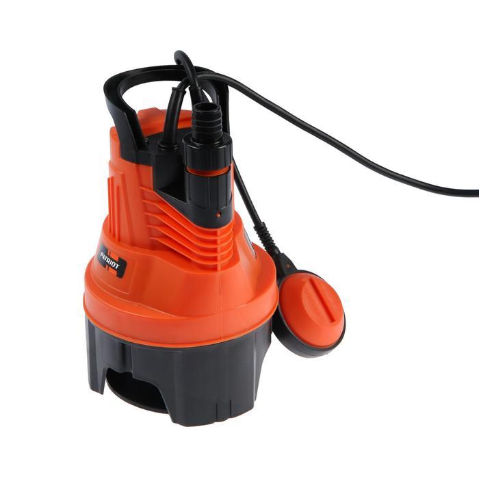 Насос дренажный PATRIOT F 350, для грязной воды, 300 Вт, напор 6 м, 83 лмин, кабель 5 м