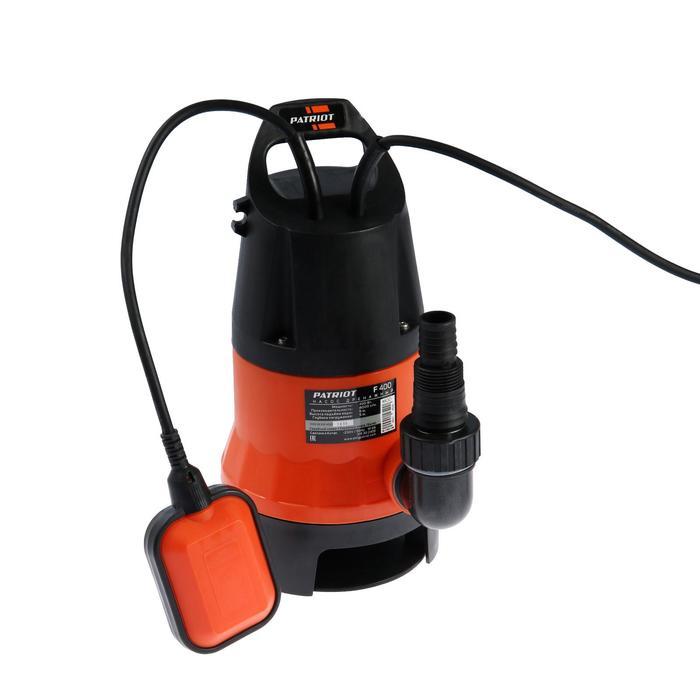 Насос дренажный PATRIOT F 400, для грязной воды, 400 Вт, напор 5 м, 133 лмин, кабель 7 м