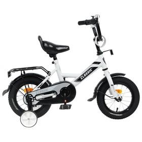 Велосипед 12' Graffiti Classic, цвет белый/черный Ош