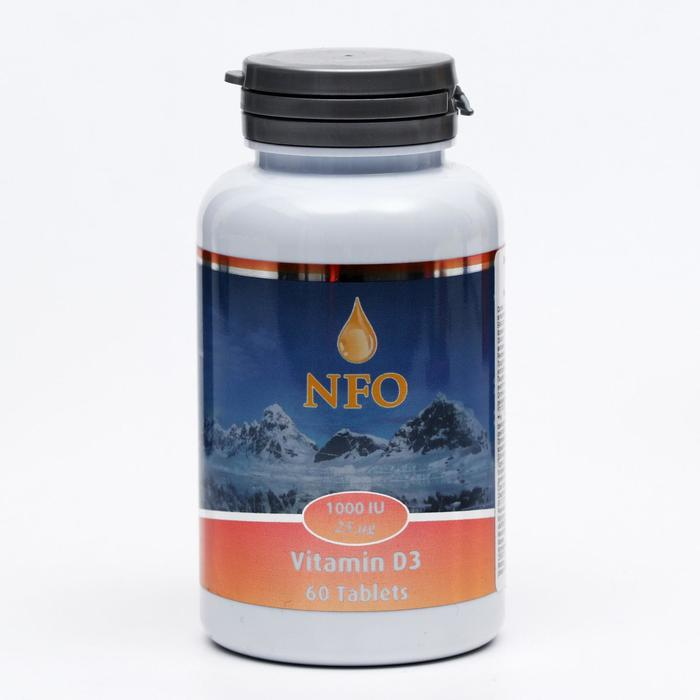 Norwegian Fish Oil витамин Д3 1000 МЕ, 60 таблеток по 750 мг