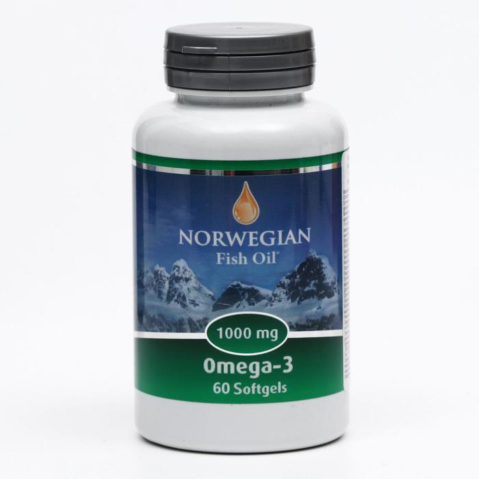 Norwegian Fish Oil Омега-3 1000 мг, 60 капсул по 1450 мг