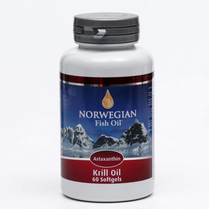 Norwegian Fish Oil Омега-3, масло криля, 60 капсул по 1450 мг