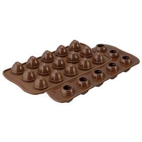 Форма для приготовления конфет Choco spiral, силиконовая