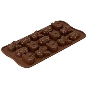 Форма для приготовления конфет Choco winter, силиконовая