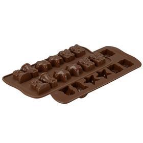 Форма для приготовления конфет Christmas, силиконовая