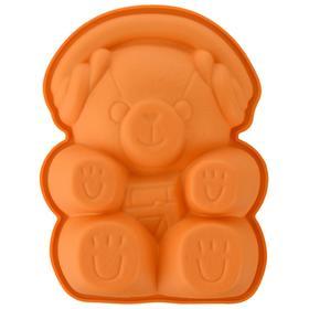 Форма для приготовления пирожного Teddy bear 12.5×16 см, силиконовая