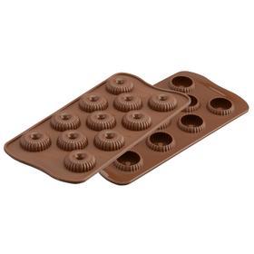 Форма для приготовления конфет Choco crown 11×24 см, силиконовая