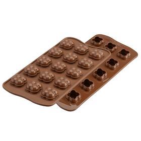 Форма для приготовления конфет Choco game 11×24 см, силиконовая