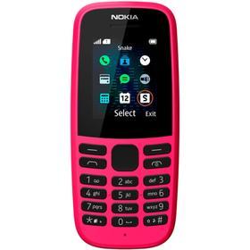 """Сотовый телефон NOKIA 105 SS TA-1203, 1.77"""", 1sim, 800 мАч, розовый"""