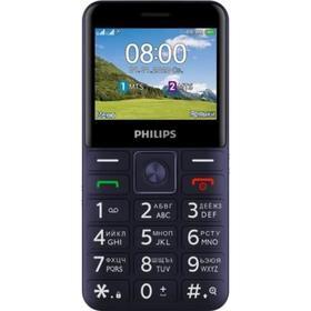 "Сотовый телефон PHILIPS E207 Xenium, 2.31"", 2sim, 1700 мАч, синий"