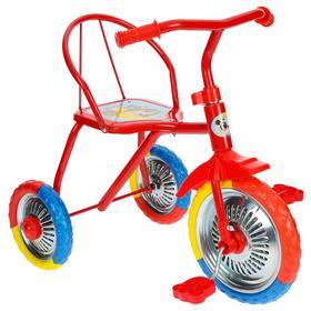 Велосипед трёхколёсный Micio TR-313, колёса 10'/8', цвет красный Ош