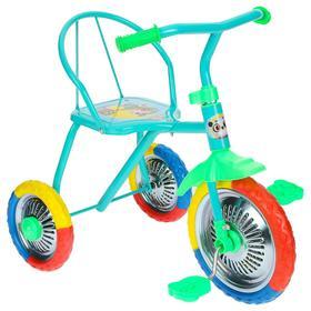 Велосипед трёхколёсный Micio TR-313, колёса 10'/8', цвет голубой Ош