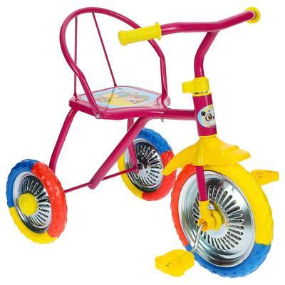 """Велосипед трёхколёсный Micio TR-313, колёса 10""""/8"""", цвет розовый - Фото 1"""